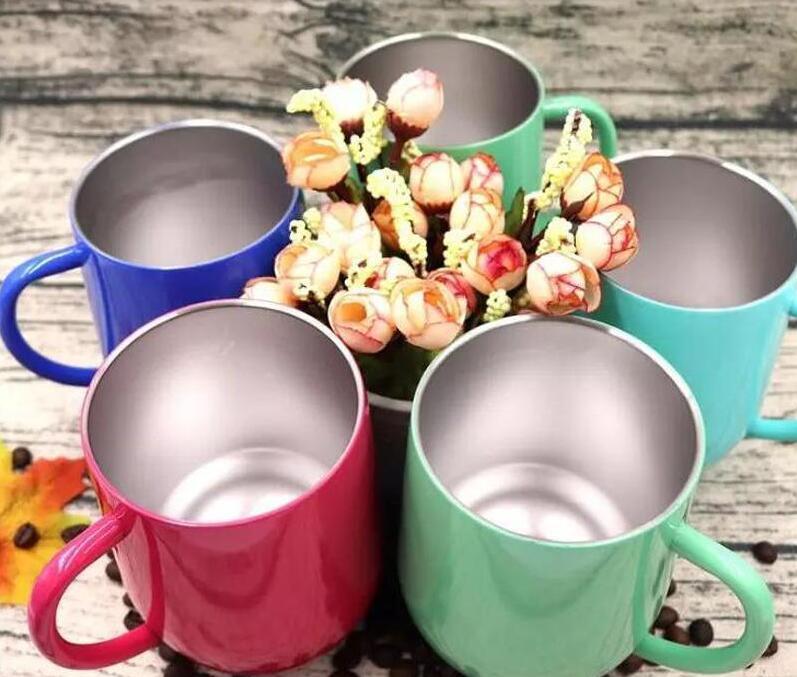 12 oz paslanmaz çelik stemless şarap fincan çift duvar paslanmaz çelik vakum yalıtımlı bira kupa beyzbol kupalar hızlı kargo şarap bardakları