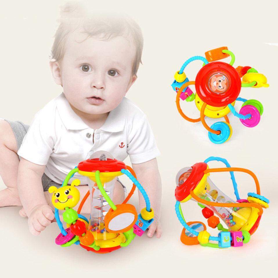 Apaffa Bebê Recém-nascido Chocalista Educacional Brinquedos Brinquedos Móveis Musical Chocalho Toys para Baby Might Chattles Bebê Brinquedos 0-12 Meses LJ201124