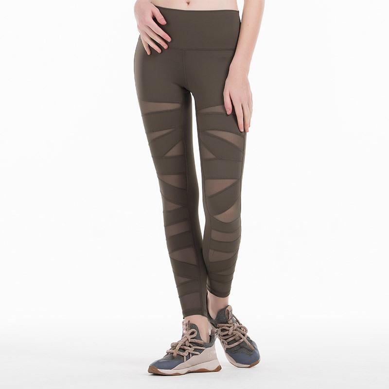 Sexy Pantalones de yoga sexy mujeres malla leggings deporte mujeres fitness correr ropa deportiva pantalones deportes gimnasio gime leggings sportstergings