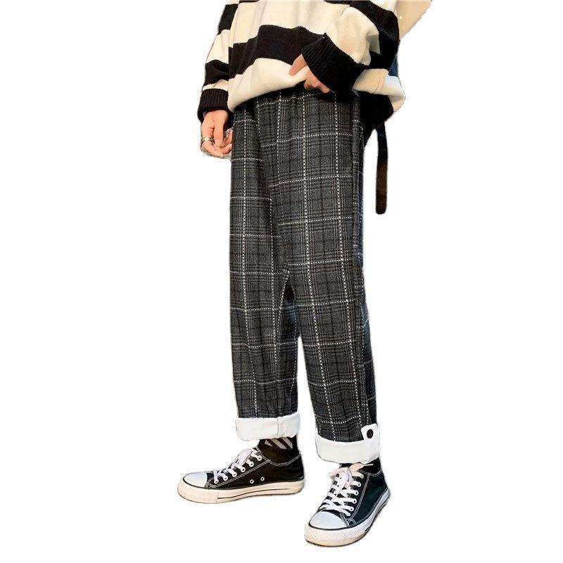 Pantalon pour hommes hommes à carreaux hommes joggeurs décontractés Harem coréen HIP Pantalons Streetwear Swewewear Santé Harajuku