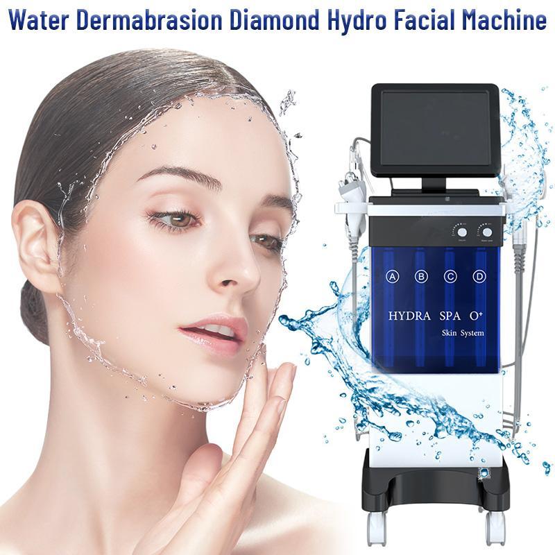 Mais novo 8 In1 Water Hydra Facial Dermaabrasão Pele De Profunda Limpeza LED Pdt Oxygen Jet Skin Scrubber Máquina De Beleza Ultrasonic