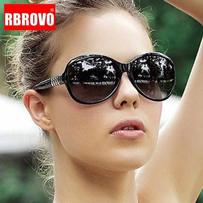 RBROVO Крупногабаритные Солнцезащитные очки Женщины Brand Cолнцезащитные очки женщин Роскошные ретро очки для сбора винограда Feminino