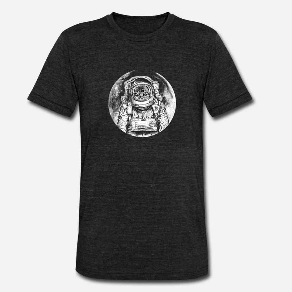 Cat Astronaut Outer Space Kitty Moon Cool Kitten T Shirt Hip Hop Black Sportswear Tracksuit Hoodie Sweatshirt