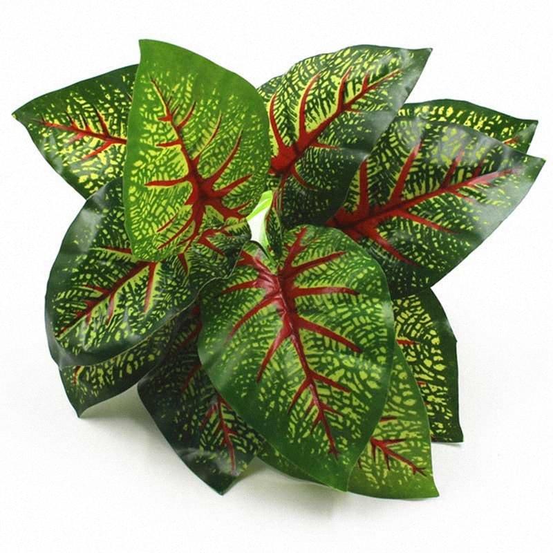 Artificial planta falso de la hierba artificial flores de plástico plantas decorativas flores de plantas de la hierba verde de plástico de jardín decoración del hogar # IqXk