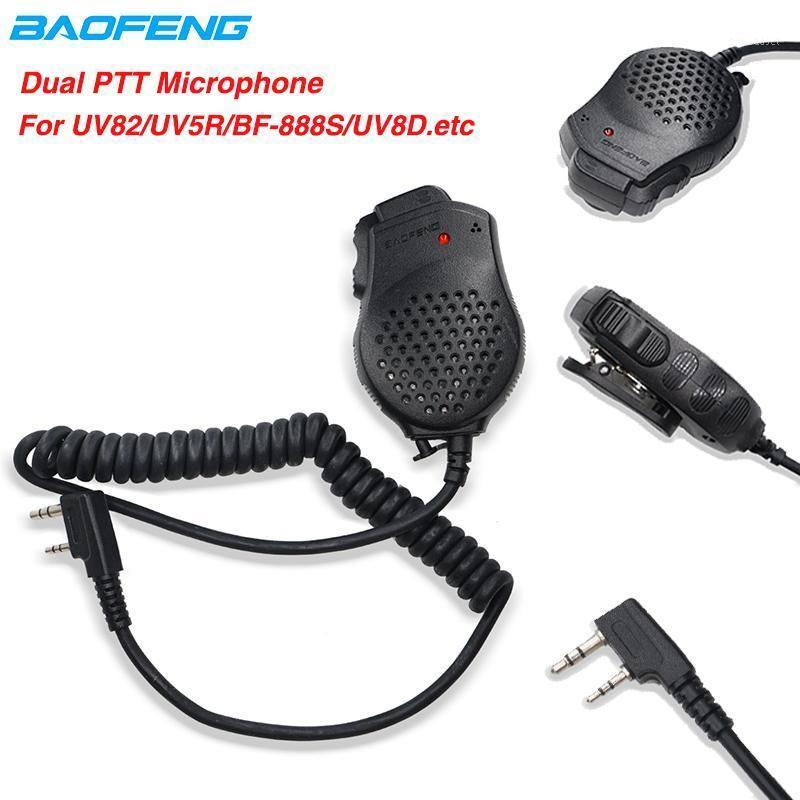 Original Baofeng 2 Dual PSpeaker Mic Microphone For Walkie Talkie UV-82 UV82 BF-888S UV-5R UV-H9 UV-H7 Radio Accessories1