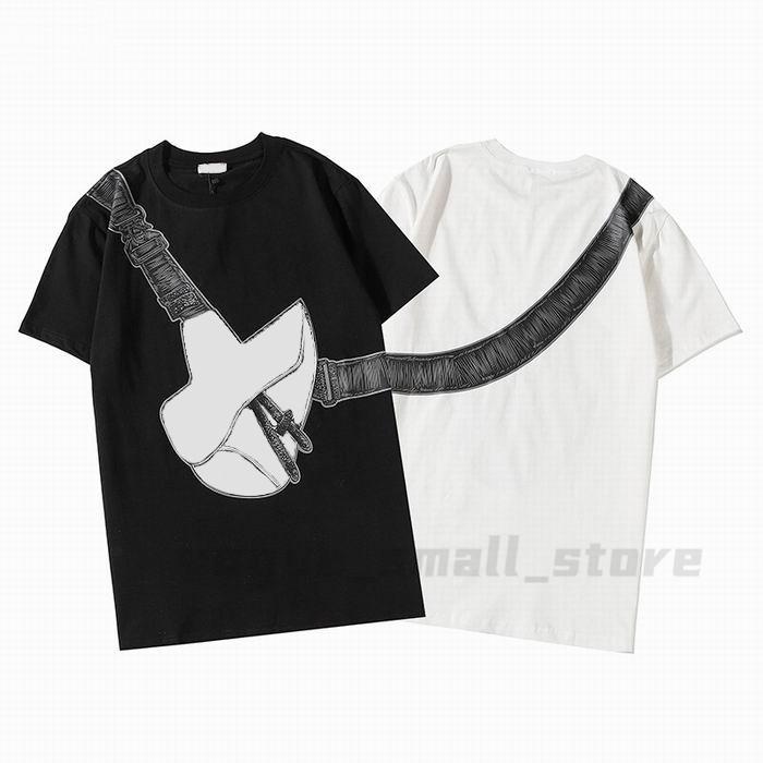 20SS Luxe Polo Mens Womens Designer Tshirts Saddle Bag Печатная мода Человек Футболка Высочайшее Качество Хлопковые Повседневные Тис с коротким рукавом