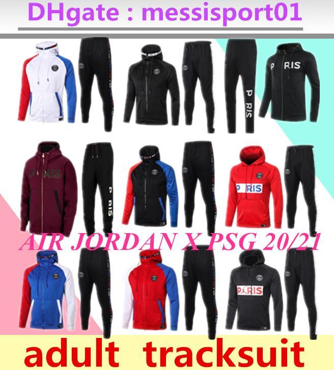 2020 2021 air jordam paris jacket hoodie Survetement 2020/21 paris MBAPPE football jacket 20/21 soccer TRACKSUIT