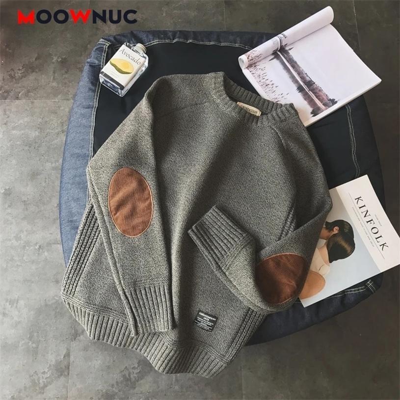 Casual pullover hombre maglione moda per uomini caldi solidi di alta qualità nuova primavera autunno autunno manica lunga maschio vestito gioventù scollo a V 201221