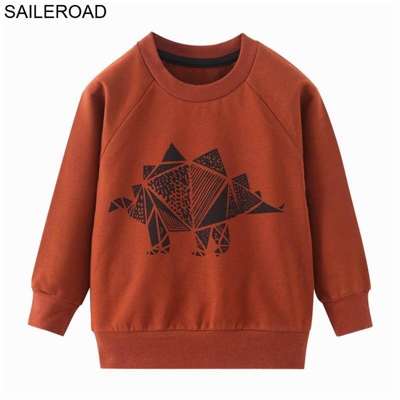 Segler Boys Dinosaurier Hoodies Kinder Hoodies Sweatshirt Jungen Mädchen Frühlingsmantel Kinder Langarm Lässige Outwear Baby Kleidung 201222