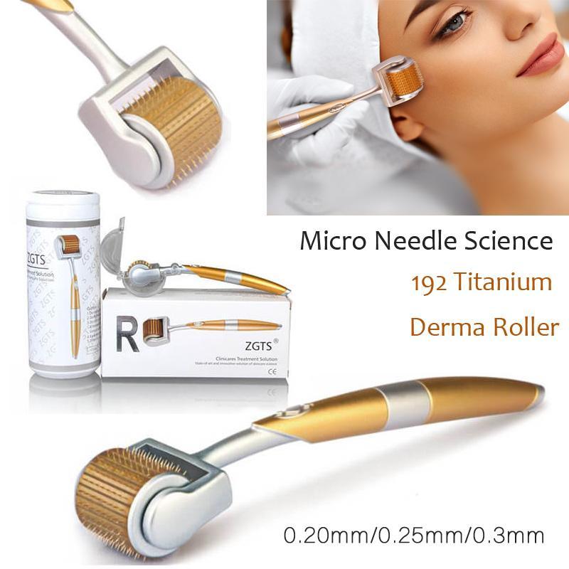 أعلى البائع الفاخرة 192 التيتانيوم الصغرى إبر العلاج ديرما الأسطوانة ل حب الشباب ندبة مكافحة الشيخوخة الجلد العناية بالجمال تجديد