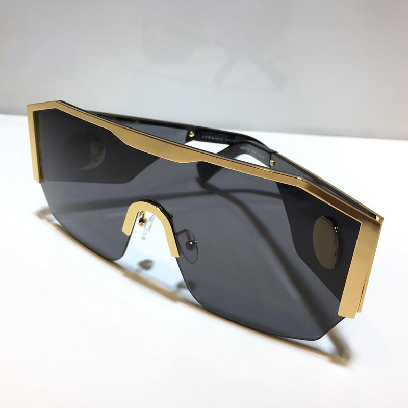 2220 New Top Men sunglasses fashion top metal half frame UV400 ultraviolet protective glasses steampunk summer square style with package