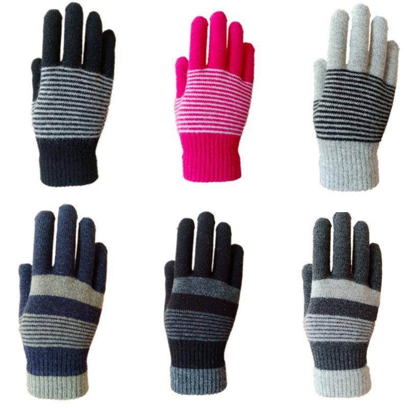 مكافحة الباردة خمسة أصابع قفاز متعدد الألوان الحياكة الشتاء نضع الصوف الدافئة قفازات أزياء الرجال في الهواء الطلق والدليل على ريح الرياضة قفازات 3 5hm L2