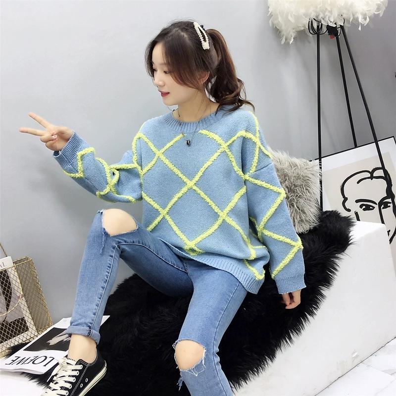 Свитер Женщины 2020 осень зима новый Solid Color Base свитер с длинным рукавом O шеи Мода Сыпучие Тонкий свитер Женские топы