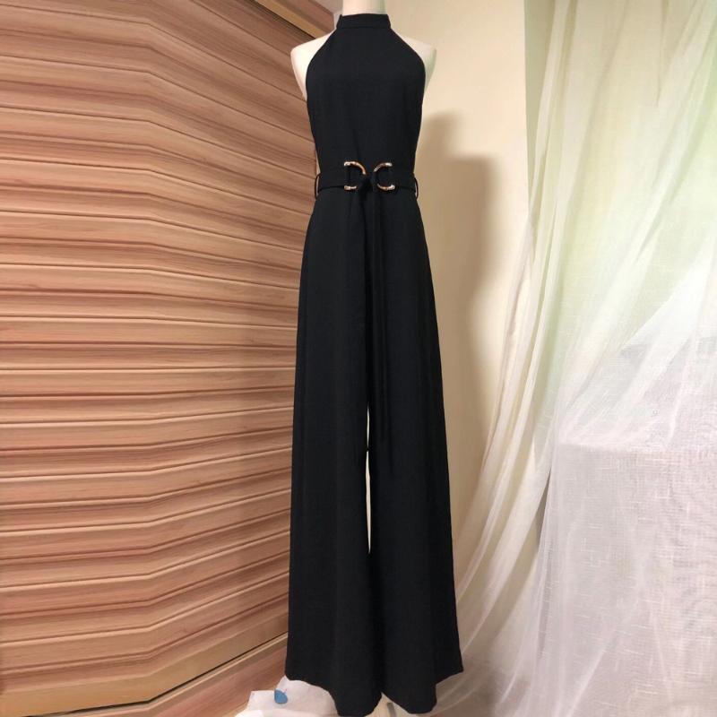 2020 женская новая мода сексуальная открытая спина высокий талийный комбинезон