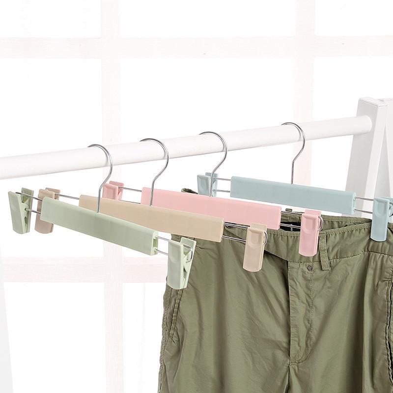 Ветрозащитные вешалки для одежды портативный пластиковый дисплей вешалки брюки патроны вешалки для вешалки с регулируемыми выдвижными брюками