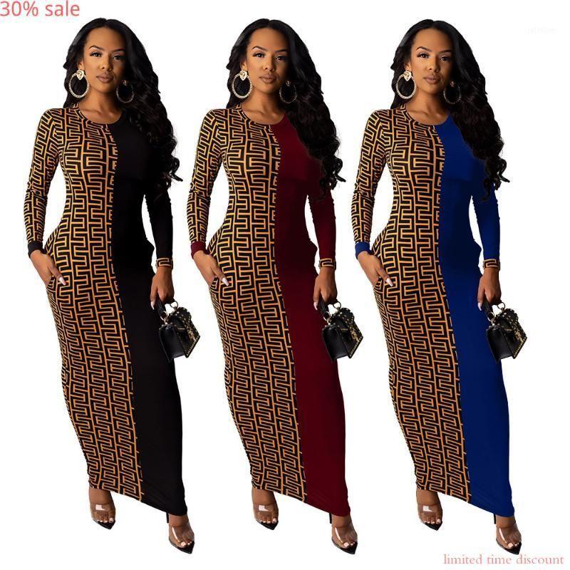 아프리카 드레스 여성 Boho 긴 소매 맥시 레오파드 클럽 드레스 숙녀 파티 드레스 기하학적 가을 패션 Bodycon Robe Femme1