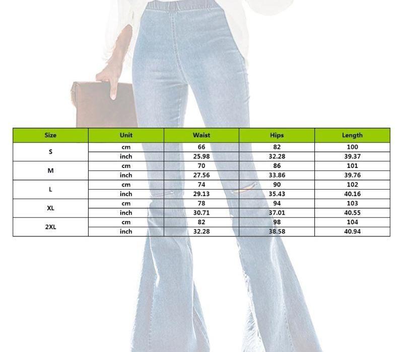 2020 Femmes Flare Pants Ripped Vintage taille haute Skinny Jeans pour femmes Sexy Retro Denim Pants Lady Streetwear11
