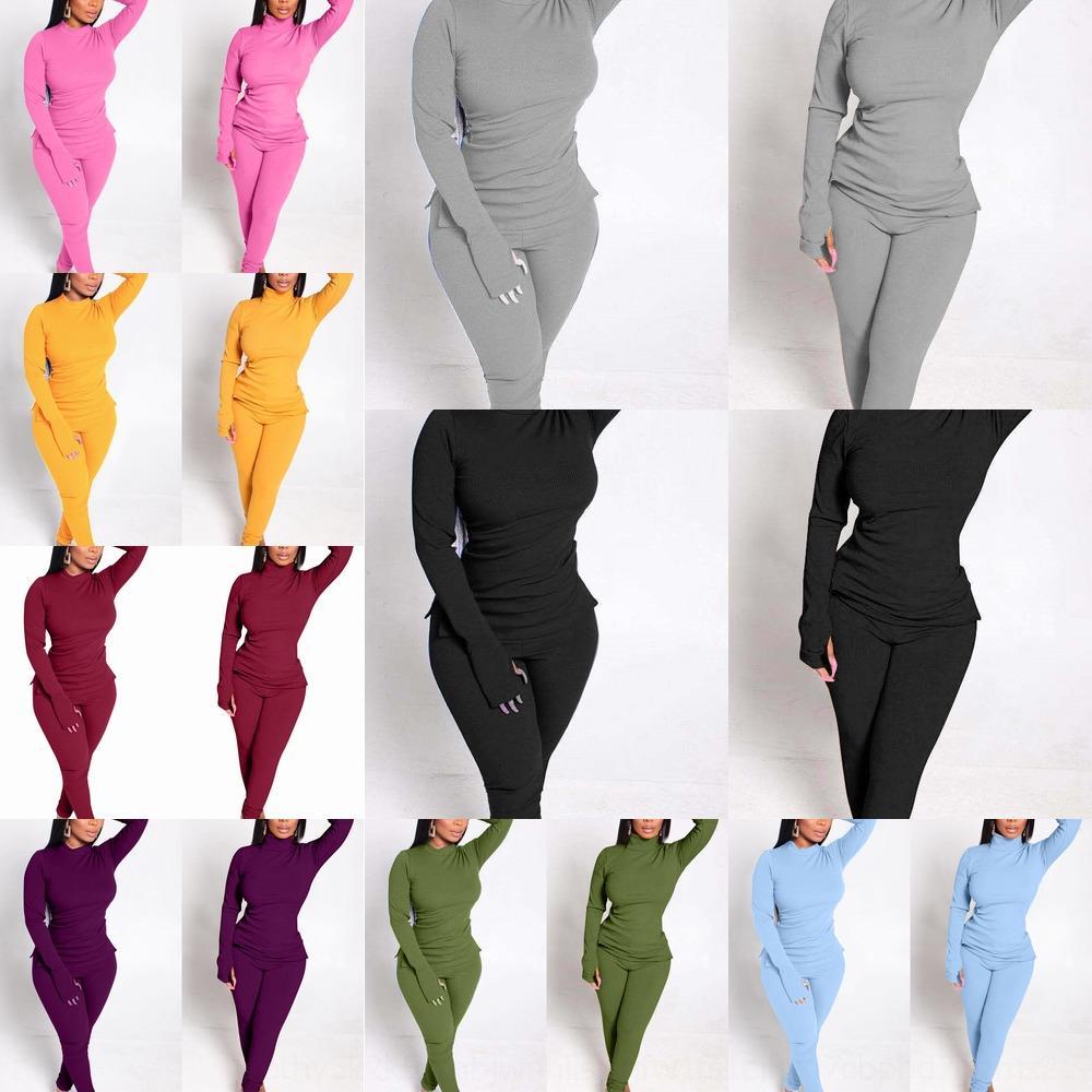 WKWV Nuevo producto Spot Knitting European and American Popular Women039; S 2019 Body Body Cinta Ocio Dos piezas Set 020 A7