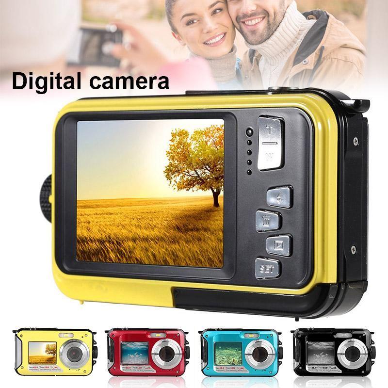 48MP Unterwasser wasserdichte Digitalkamera Dual Screen Video Camcorder Point und Shoots Digitalkamera GDeals