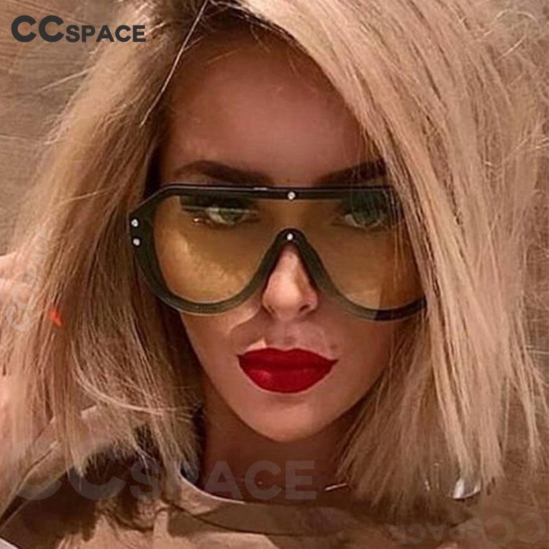 Mujeres One Lens Gafas Vintage Rivet 47987 Moda Hombres UV400 Sombras Sunglasses Ounnd
