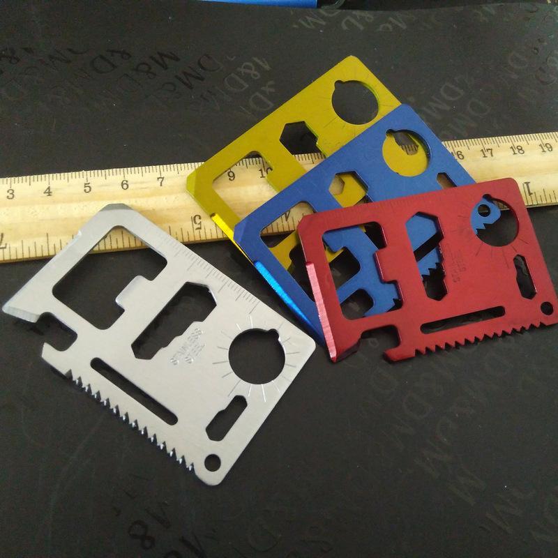 Couteau - Carte Fonction d'urgence Survie Multicolore en acier Multi 1 Couteau Meilleur poche de carte en acier inoxydable 11 Camptool Qcdew