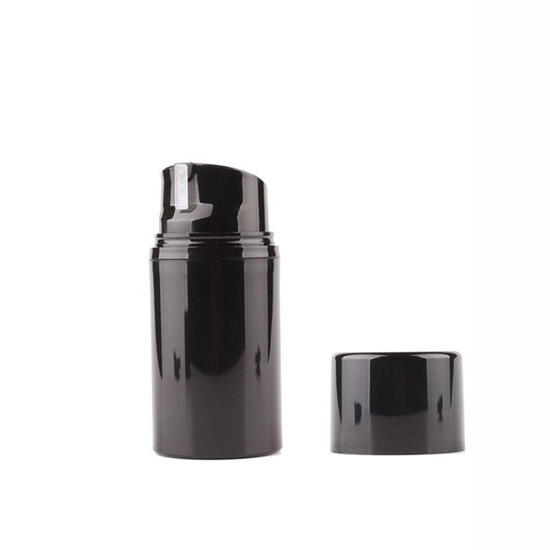 12pcs 30ml 50ml 80ml 100ml 120ml 150ml Vider Airless Lotion Crème Flacon-Pompe Noire Soins de la peau Conteneurs Voyage