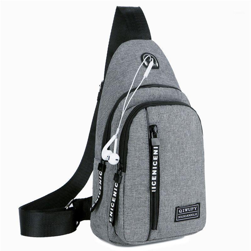 Мужчины One плечо рюкзак женские слинг сумка USB мальчики велосипед спортивные путешествия универсальные модные сумки студент школьный университет KL11271