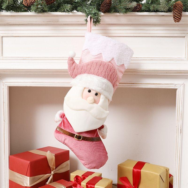 IP2DQ конфеты человек Снеговик чулок кулон украшение носки Рождество детский Рождественский кулон Старый мешок подарка высокого класса украшение носки GIF