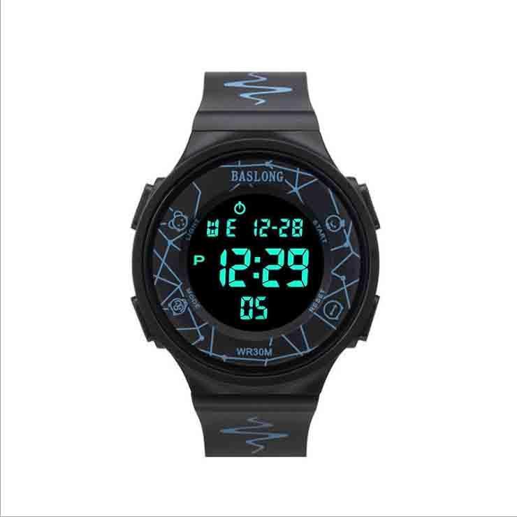 Montre Sports Smart Smart Junior High School étudiants Multi-Fonctionnement Digital Electronic Watch Tendance Tendance imperméable lumineuse
