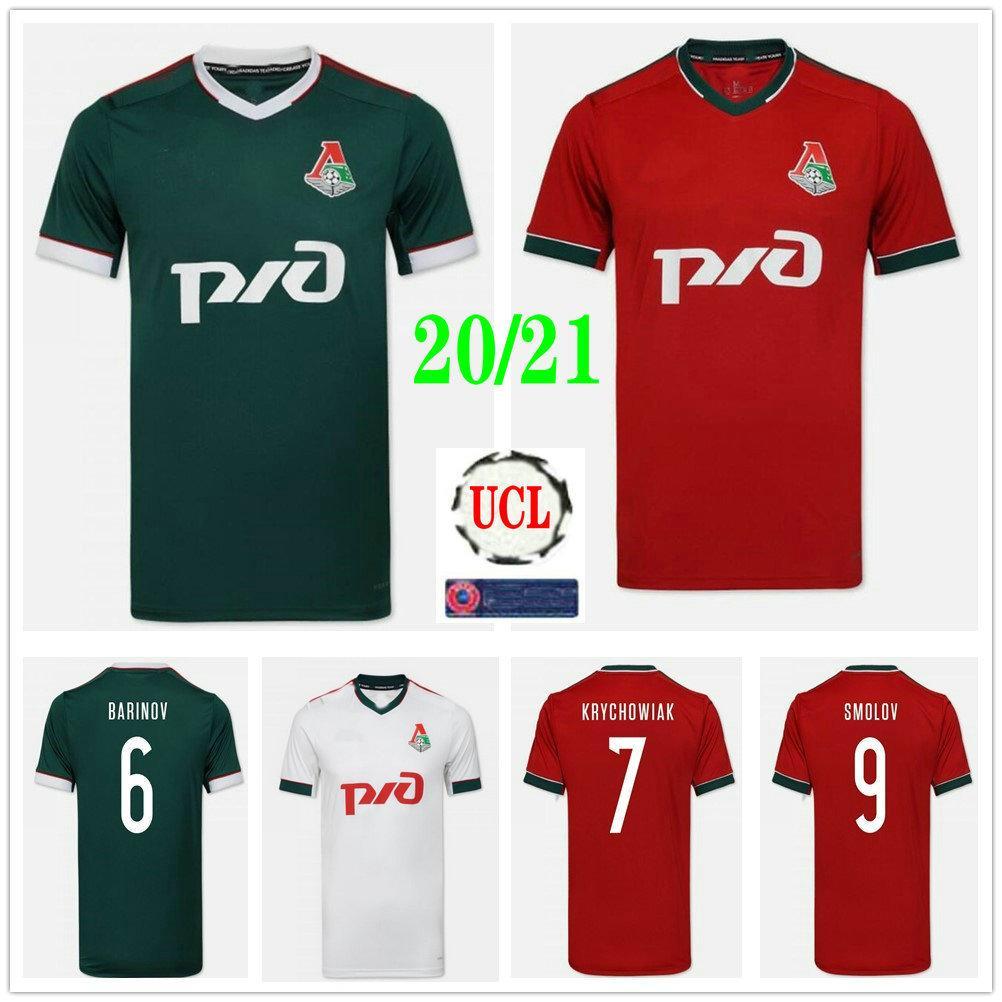 2020 2021 Lokomotiv Moscou Football Maillots MIRANCHUK Zhemaletdinov Smolov Krychowiak Barinov sur mesure 20 21 Domicile Extérieur Football Shirt Uniforme