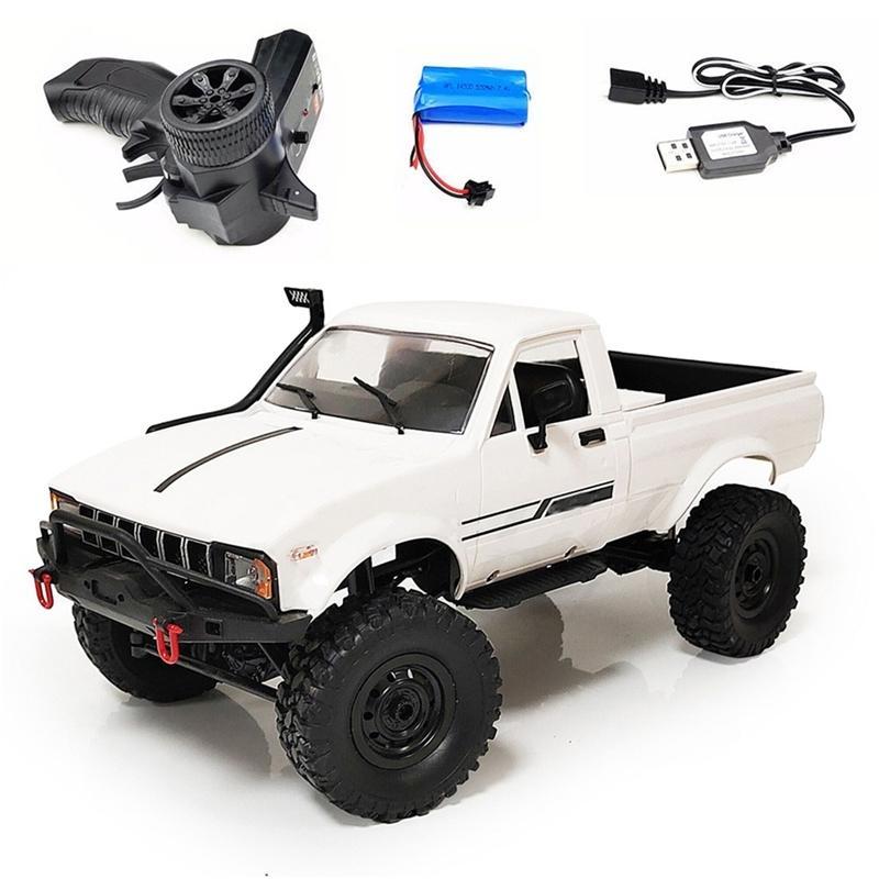 NewWST WPL C24 Actualización C24-1 1:16 RC Coche 4WD Control de radio Off-Road Mini Coche RTR Kit Rock Crawler Buggy Buggy Machine 201105