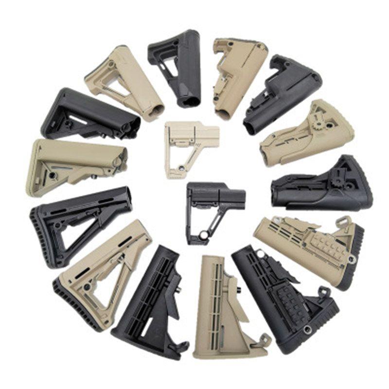 التكتيكية الصيد النايلون الأسهم الادسنس الأسود AEG GBB بوليمر ME ME BUTTSTOCK ل AR M4 / M16