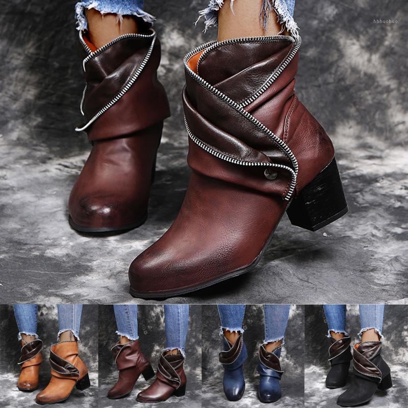 Mujeres Botas de invierno Cálido Tobillo corto Botas Botas Tallas Plataforma Ladies PU Zapatos Femeninos Cómodo 2021 Calzado Drop Shipping1