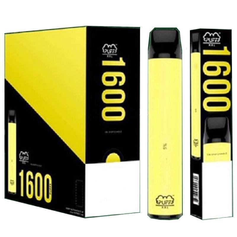 고품질 전자 담배 퍼프 XXL 일회용 장치 1600 퍼프 펜 색상 vape prifled 4ml 포드 850mAh 배터리