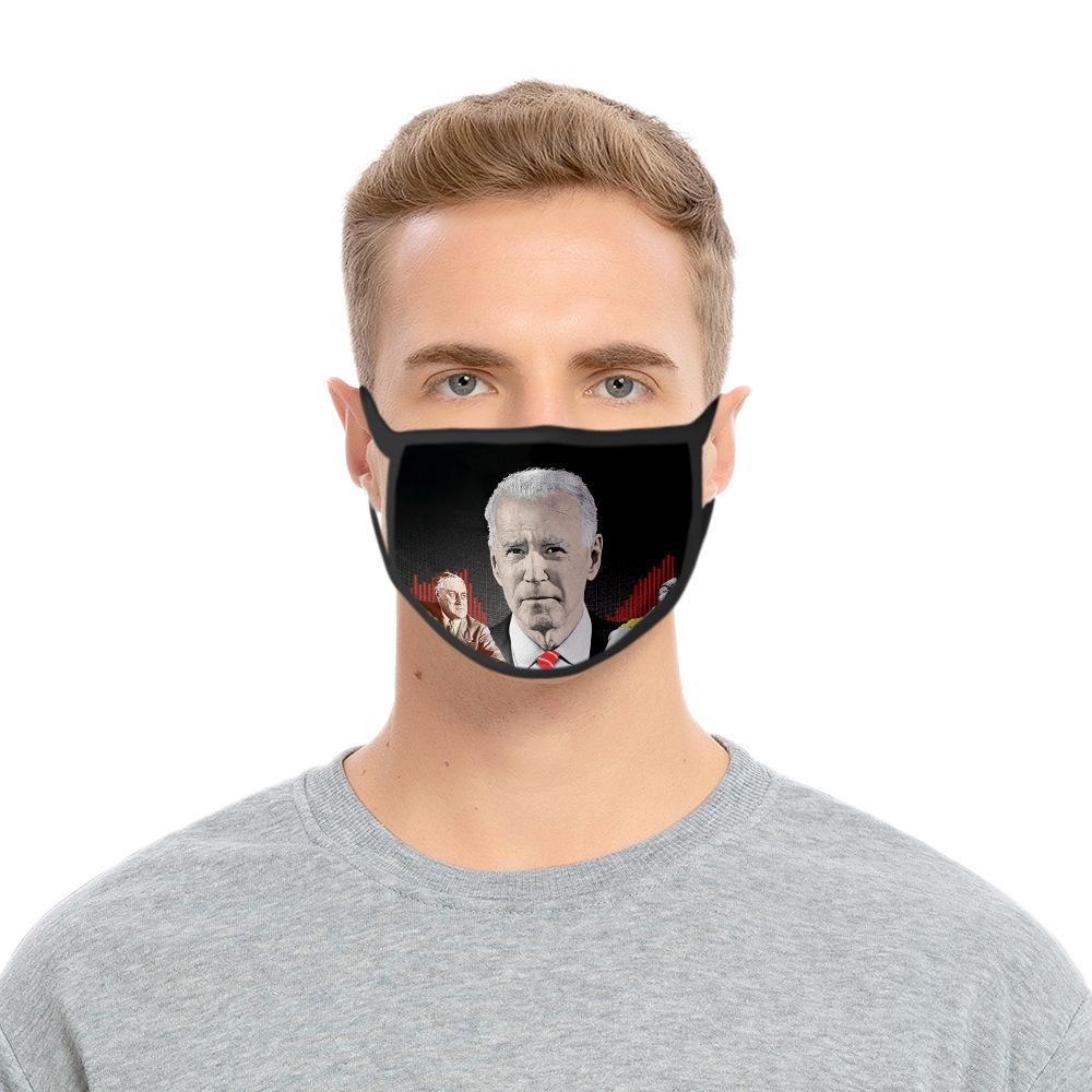 QEqT DHL Expédition Masques de visage Biden américain Élection Fournitures universel pour masque anti-poussière Imprimer Hommes et femmes coupe-vent Masque bouche KKF2223