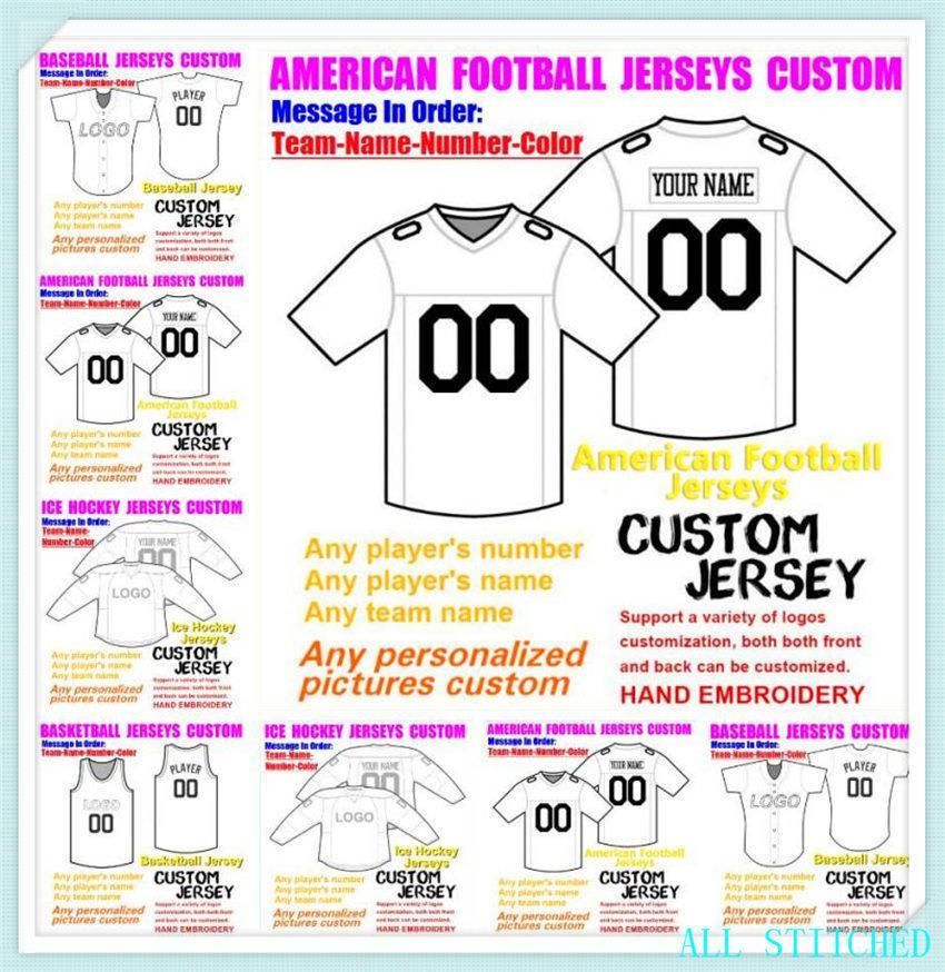 Пользовательские бейсбольные хоккей баскетбол мужские женские молодежные американские футбольные трикотажные изделия спортивные пара неприкасаемое Официальная игра Джерси 4XL 5XL 6XL