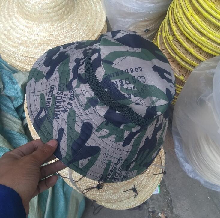 2019 Verão Outdoor Chapéu de Chapéu de Chapéu Para Homens Mulheres Unisex Sólida Cores Algodão Boné Pescador Pescador