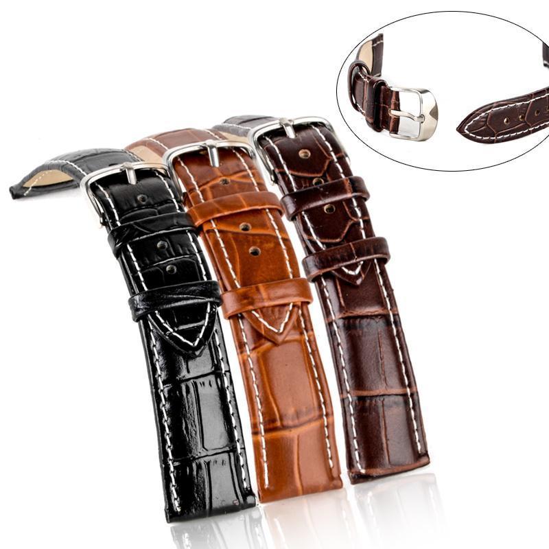 18 milímetros 20 milímetros 22 milímetros 24 milímetros relógio de pulso Strap pulseira de couro fivela de cinto Shellhard Para acessórios de aço tsetCyx lihuibusiness