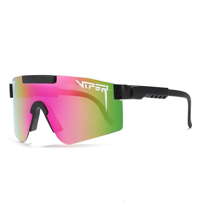Бренд Viper Frame Polarized Солнцезащитные очки Ветрозащитный PV01-C11 Спортивные Огромные Мужчины / Женщины Pit Lens Для Регулируемого Зеркала RJTJV