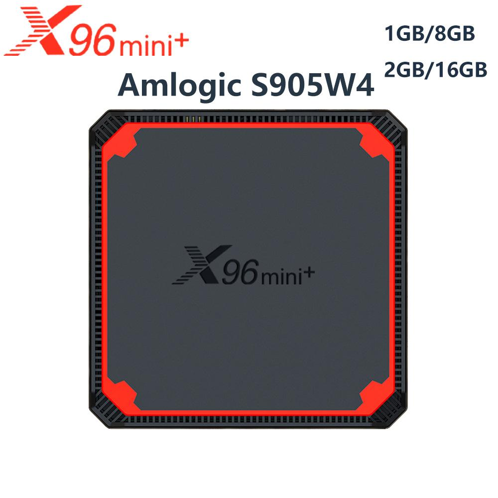 X96 Mini Plus Android 9.0 TV BOX X96mini Smart TVBox 2GB 16GB Amlogic S905W4 Quad Core 2.4G 5G WiFi 4K Set TopBox
