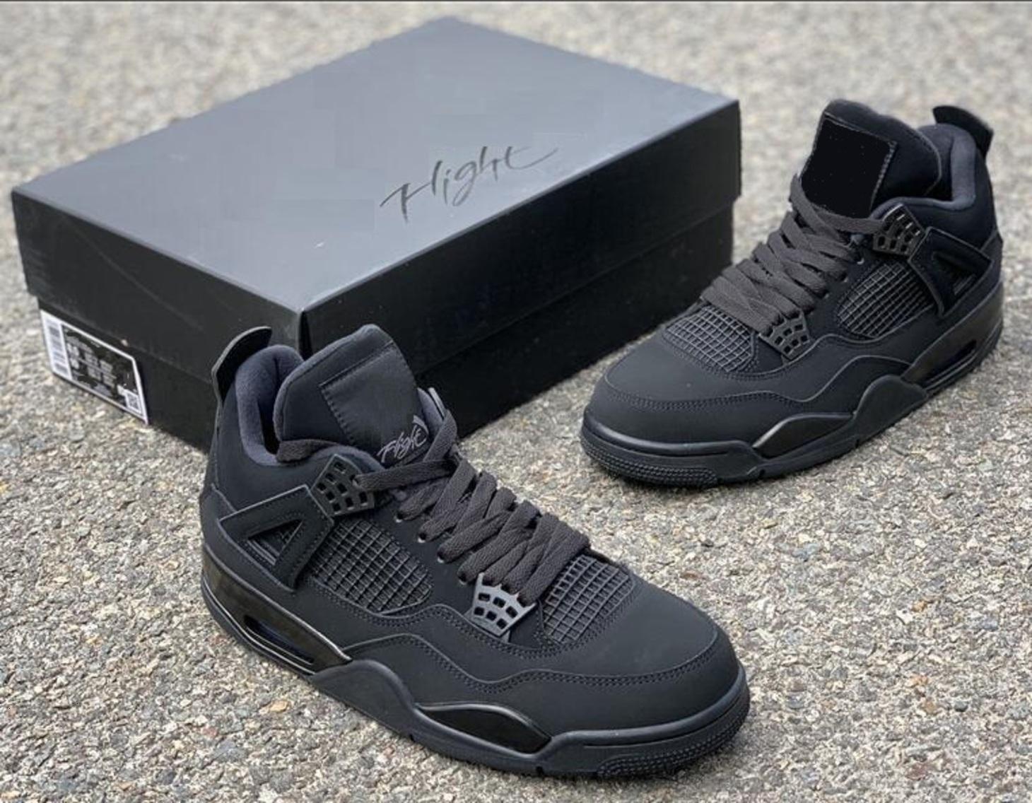 4 Black Cat 4s High Qaulity Version SE Neon 4S UNC MEN Basketballschuhe mit Kastengröße 40-47 Sneakers Sneaker