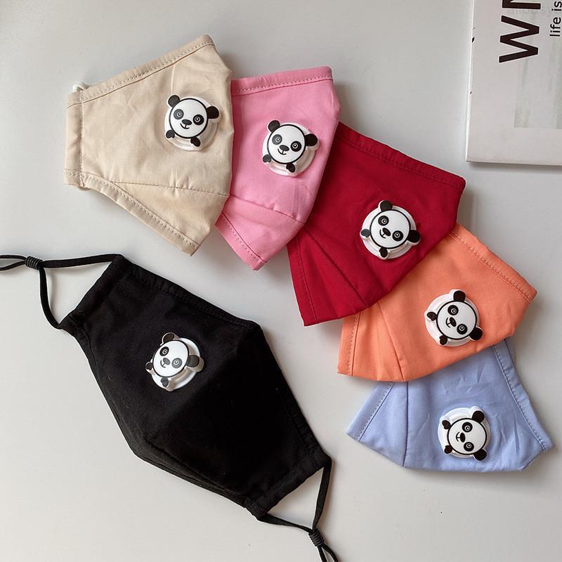 BOCA 5 PCS FILTROS PCS Colorido gratis para diseñador One Mask Niños Niños Niño Cotton Mask Mask Válvula Reutilizable Lavable FAC