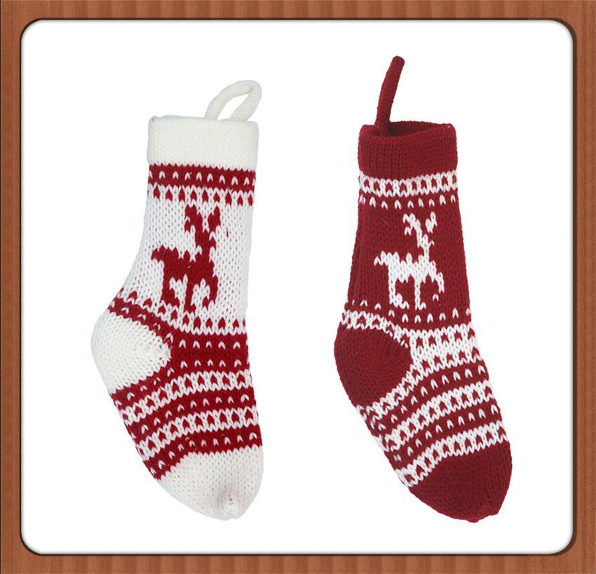 Weihnachtsstrumpf Geschenk Tasche Weihnachtsdekorationen Strümpfe Süßigkeiten Tasche Anhänger Dekorative Weihnachten Dekorative Socken Taschen 06