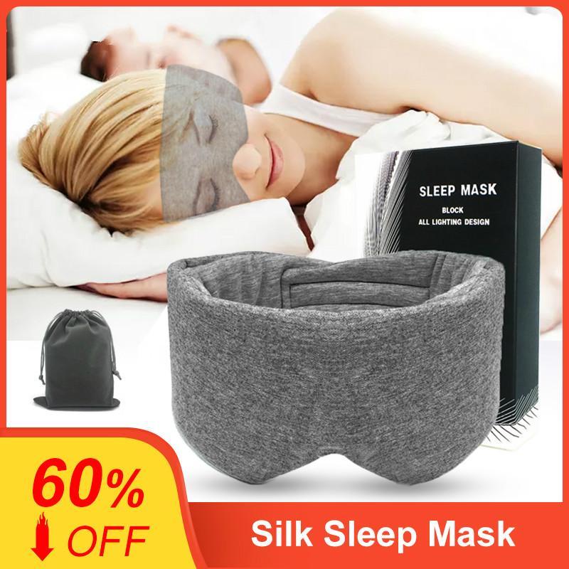 100٪ قطن الحرير قناع النوم الغمامة تغطية العين تصحيح العين النساء الرجال لينة المحمولة الغمامة السفر Eyepatch النوم قناع العين
