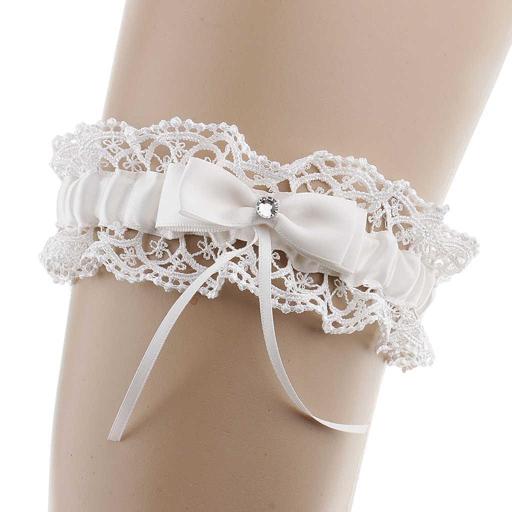 Elegante Spitze Kristall Braut Bowknot Hochzeit Frauen Strumpfband Andenken Geschenk