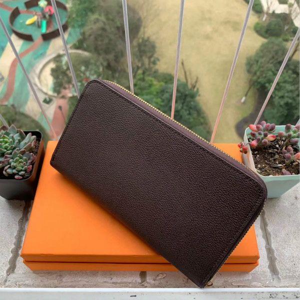 M60002 Organizador de diseño de lujo Organizador Zippy Wallet con cremallera de mujer Cartera larga Mono Gram Lands Cuero Envío Gratis Precio Al Por Mayor