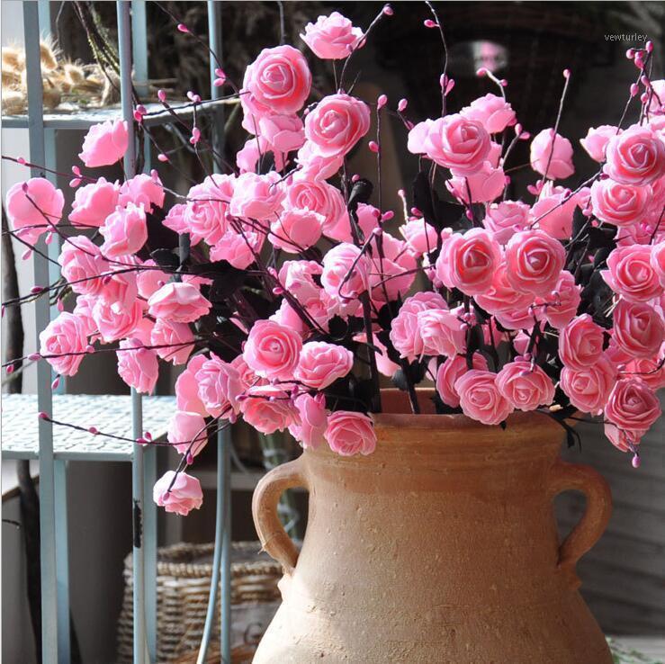 Flor artificial PE Volumen Corazón 8 Rosas Flores secas EUROPEO JUANHUA FLORES DE LA BODA DE BODA DE LA BODA DE LA CASA DE LA CASA1