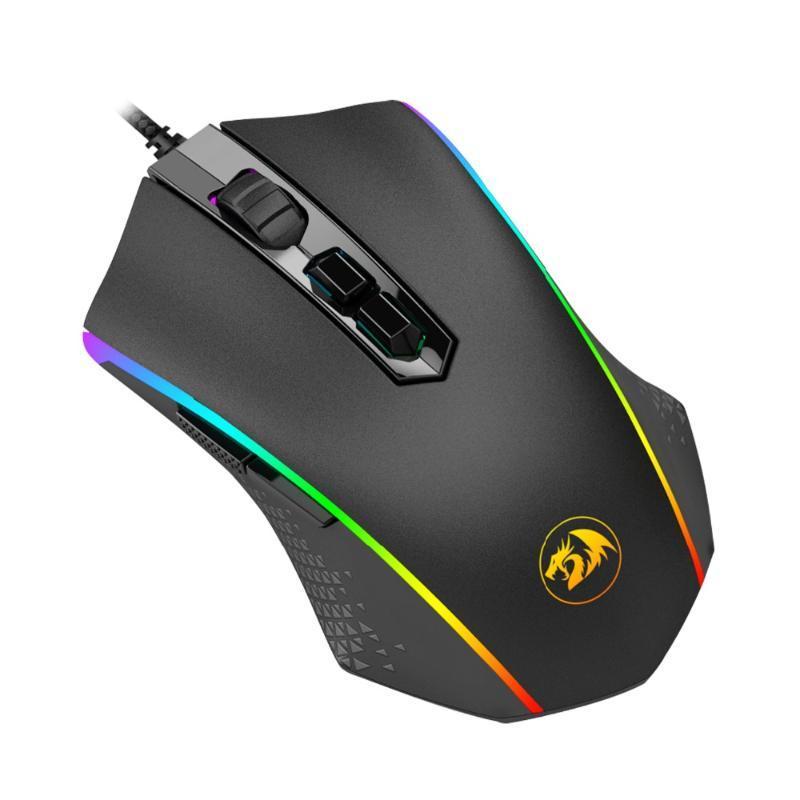 MICE Reddragon M710 Memeanlion Chroma Jeux Mouse 7 RVB Tongeage du rétroéclairage Poids USB Gamer câblé jusqu'à 10000 DPI Utilisateur réglable