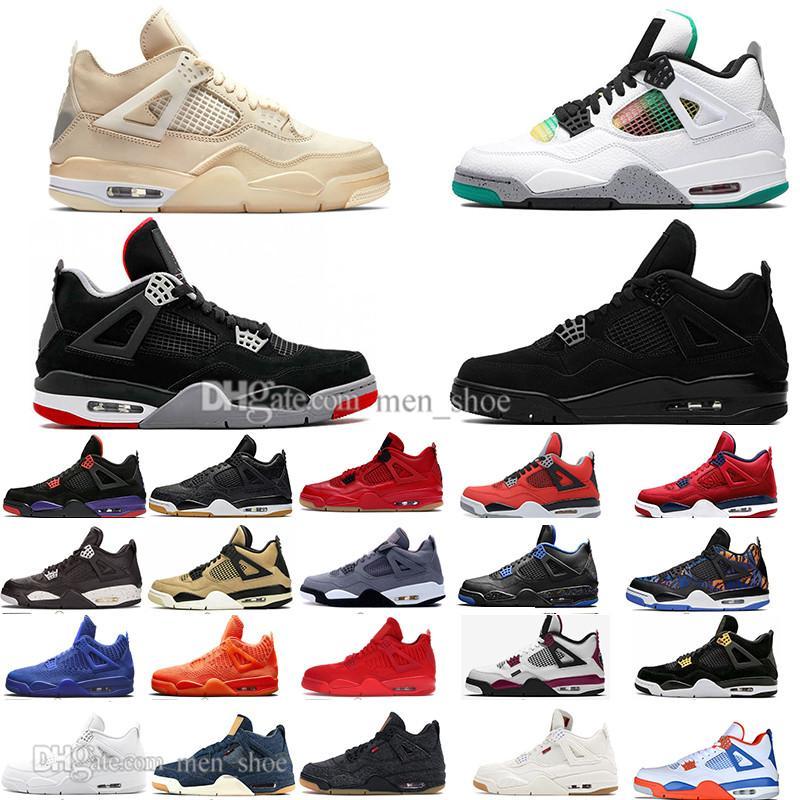 Nueva vela 4 4s Black Cat Blanco Cemento ¿Qué es la salpicadura zapatos de baloncesto para hombre Travis Scotts Cactus Jack Black Grey Hombres Mujeres Deportes Zapatillas deportivas