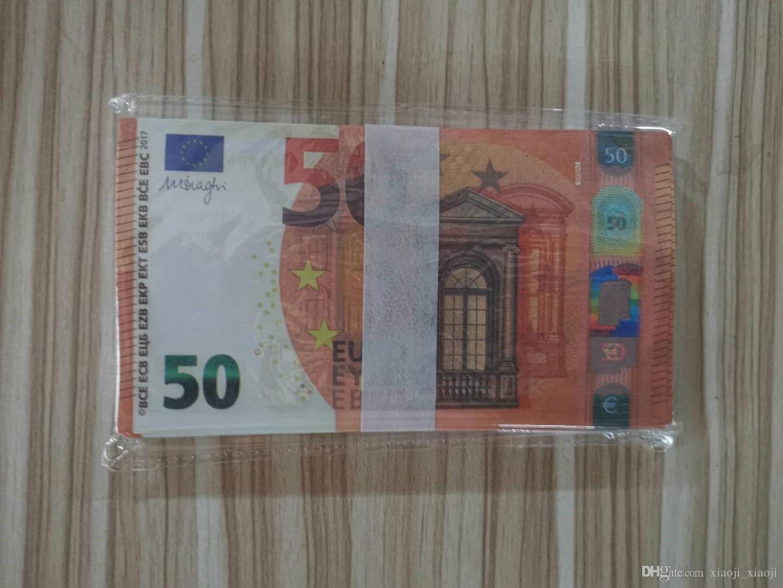 Colección rápida Play 50 de Euro Festival Adulto 21 Moneda Moneda al por mayor Moneda Juguete Props Simulación Token y regalos Disparos Jruuf
